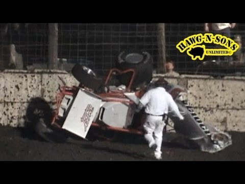BEST Sprint Car Crash Ever - Brian Kristan Racing - IRA Wilmot Raceway Dirt Track