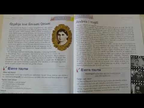 Gjyshja ime Sevasti Qiriazi / Andrea i vogel- Gjuhe shqipe Klasa 4