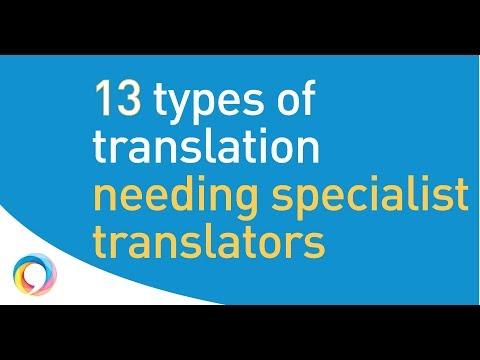13 types of translation where you must use expert translators