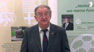 """""""Dort daheim – hier zu Hause"""" - Wilhelm Mahn eröffnet BdV-Ausstellung in Mönchengladbach"""