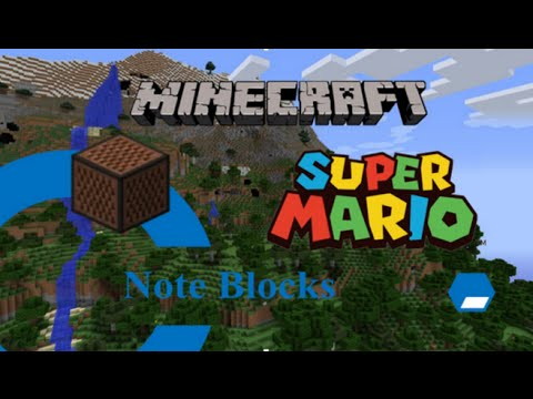 Minecraft super mario theme note blocks tutorial