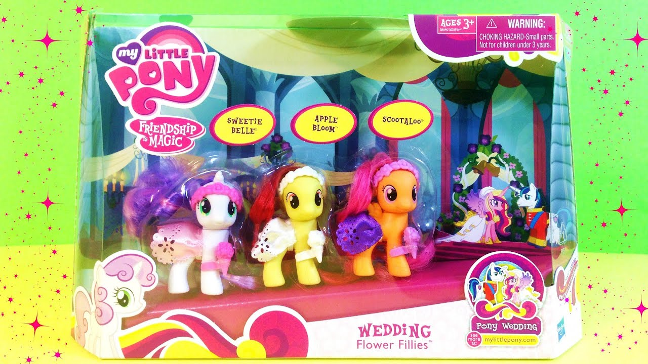 My Little Pony Friendship Is Magic Cutie Mark Crusaders Wedding Flower Fillies Unboxing You