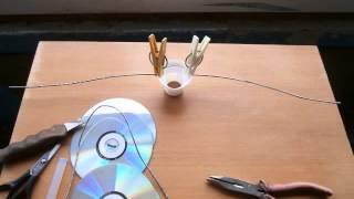 Ветряк из компакт дисков.