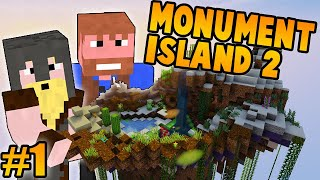 THE GREAT TREASURE HUNT ON MONUMENT ISLAND 2 - Ep.1 - (Minecraft Dumb and Dumber)