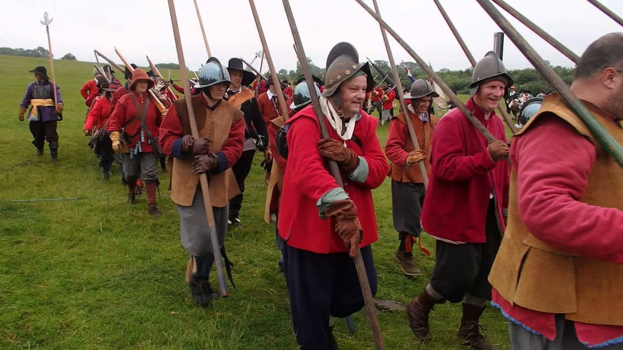 Battle reenactment Naseby 1645 English Civil War
