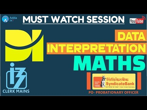 Data Interpretation (DI) For IBPS CLERK MAINS & SYNDICATE BANK | Maths