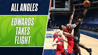 ALL ANGLES: ANTHONY EDWARDS TAKES FLIGHT👀