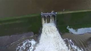 Edenville Dam at Flood Stage 5-19-2020 Drone View