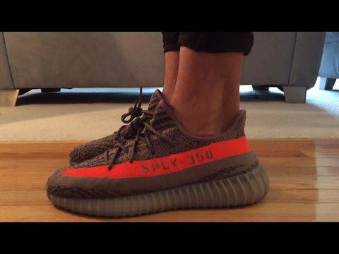 10595b4ed06ffe Yeezy Boost 350 v2 Beluga Solar Red Review + On Feet - YouTube