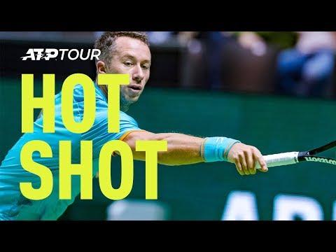 Hot Shot: Kohlschreiber Flicks 'Extraordinary' Backhand Passing Shot In Rotterdam 2019