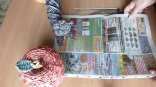 Плетение из газет  Как крутить трубочки