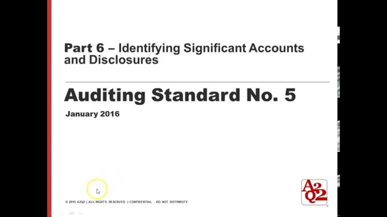 Part 6 | Identifying Significant Accounts and Disclosures