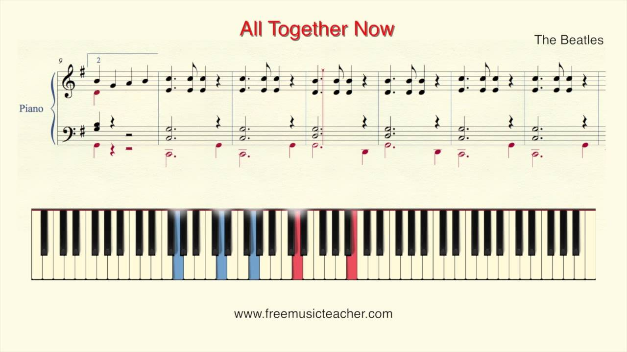 How to play piano the beatles all together now piano tutorial how to play piano the beatles all together now piano tutorial by ramin yousefi hexwebz Image collections