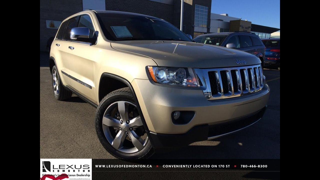 pre owned white gold 2012 jeep grand cherokee 4wd overland review red deer alberta youtube. Black Bedroom Furniture Sets. Home Design Ideas
