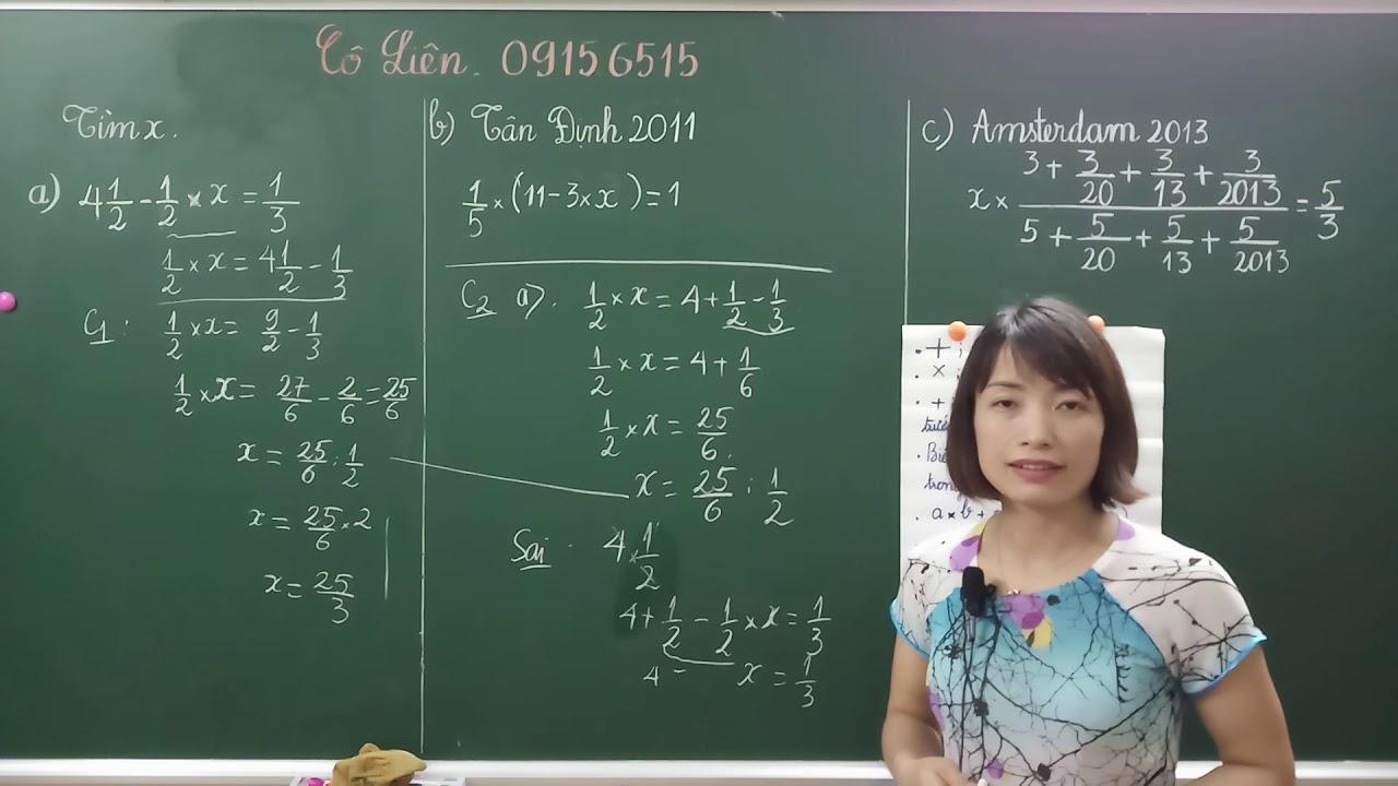 Ôn thi vào lớp 6 – Dạng toán tìm X ( Phần 2 )