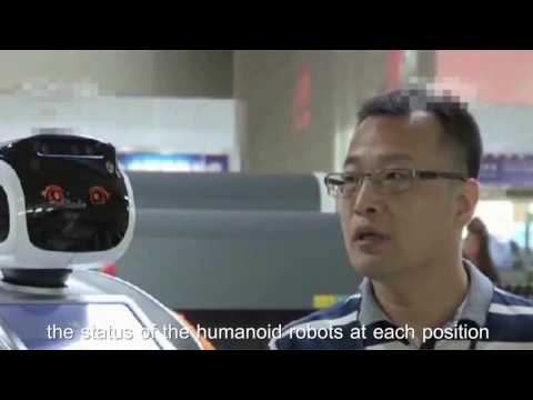 Sanbot Humanoid Robot Help Customs Inspection Faster and Safer