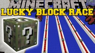 Minecraft: CONTRA CRAZY CAMO LUCKY BLOCK RACE - Lucky Block Mod - Modded Mini-Game