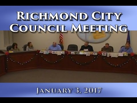 Regular Meeting of Richmond City Council on January 3, 2017