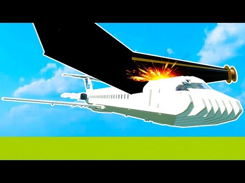 GIANT SWORD CUTS JUMBO JET PLANE IN HALF WHILE FLYING! - Brick Rigs Workshop Gameplay