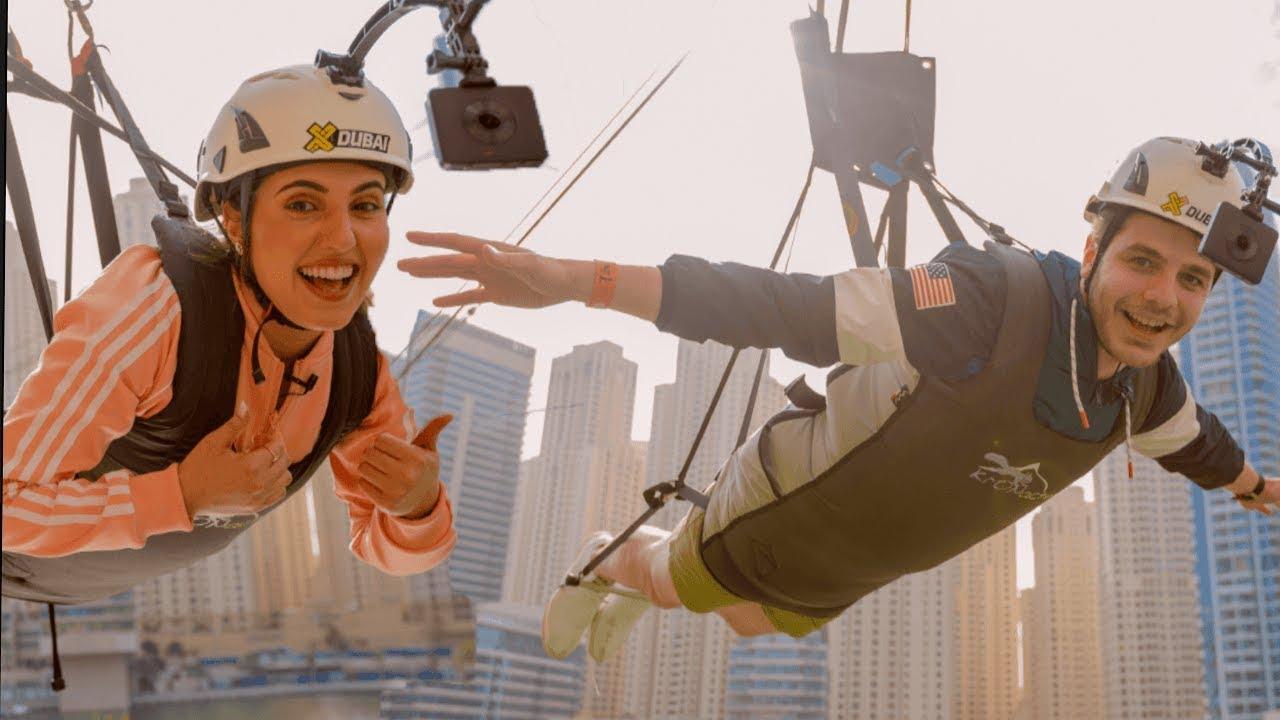 قفزنا من اعلى عمارة في دبي