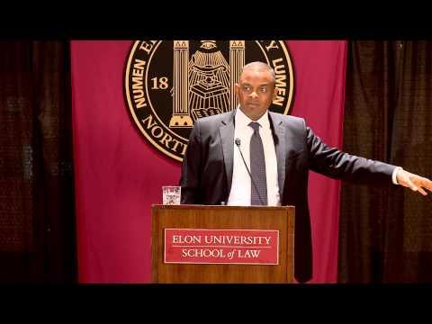 Charlotte Mayor Anthony Foxx at Elon Law School