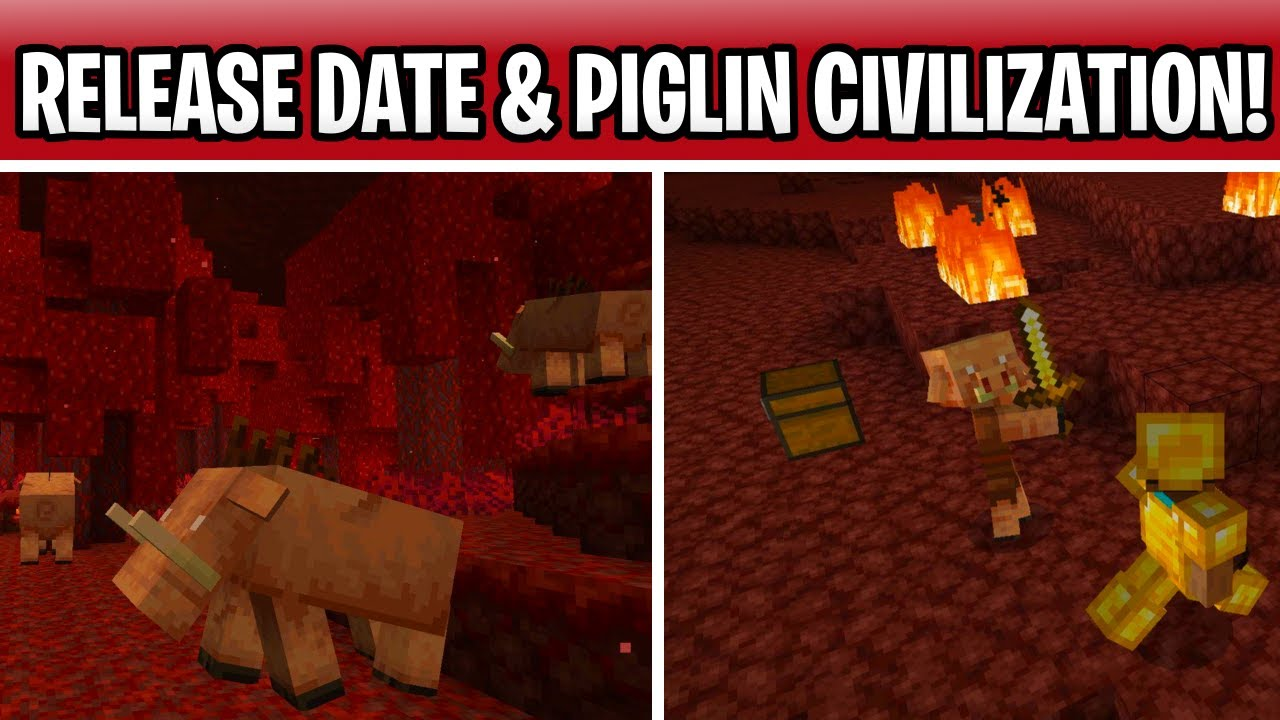 Minecraft Nether Update Release Date? Piglin Civilization, New Plants &  Items Coming!