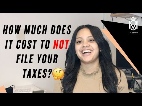 HOW MUCH DOES IT COST TO NOT FILE YOUR TAXES?