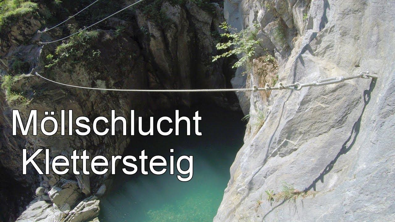 Klettersteig Weibl : Möllschlucht klettersteig schlucht ferrata am fuße des