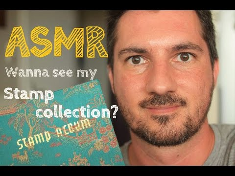 ASMR - Showing my stamp collection (whispering)
