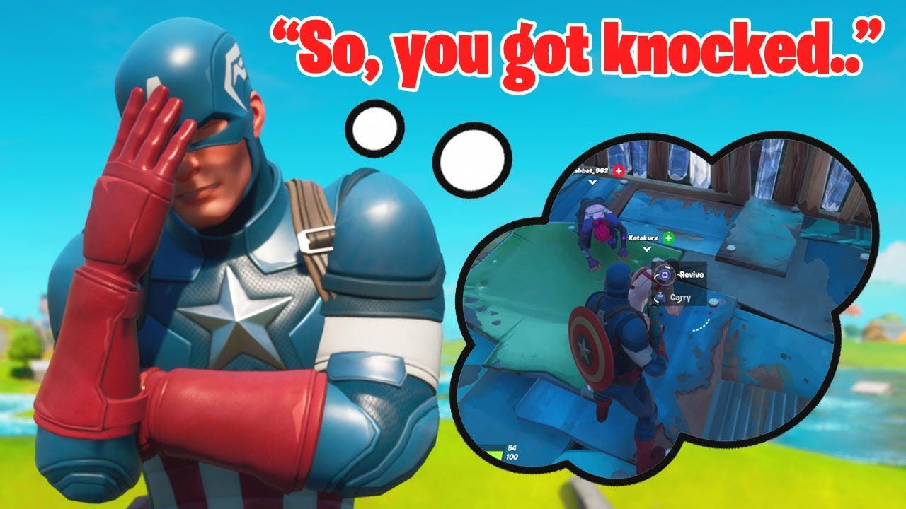 Fortnite | Captain America Saves Squads in Solid Gold