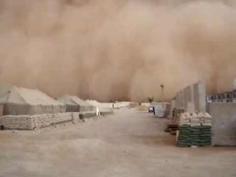 Sand Storm Al Asad Air Base Anbar Province, Iraq