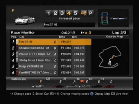 Cheat codes for gran turismo 4 on playstation 2.