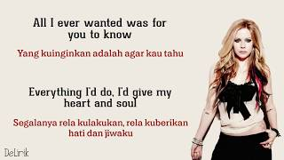 When You're Gone - Avril Lavigne (Lyrics video dan terjemahan)