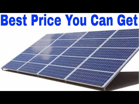 Buyer's guide for solar panels it's the good stuff for cheap.