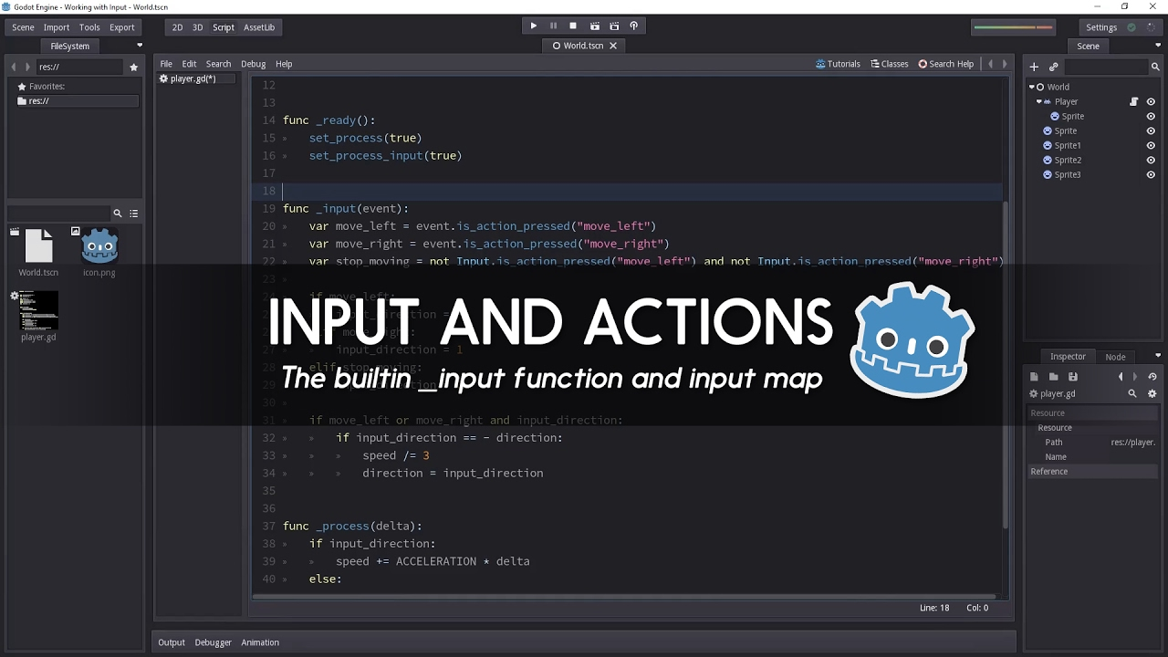 Input and Input Map – Godot Tutorial – Your Guide to Free High