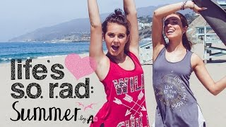 Arden Rose & Lauren Elizabeth Repelling and Beach Workout! LIFE