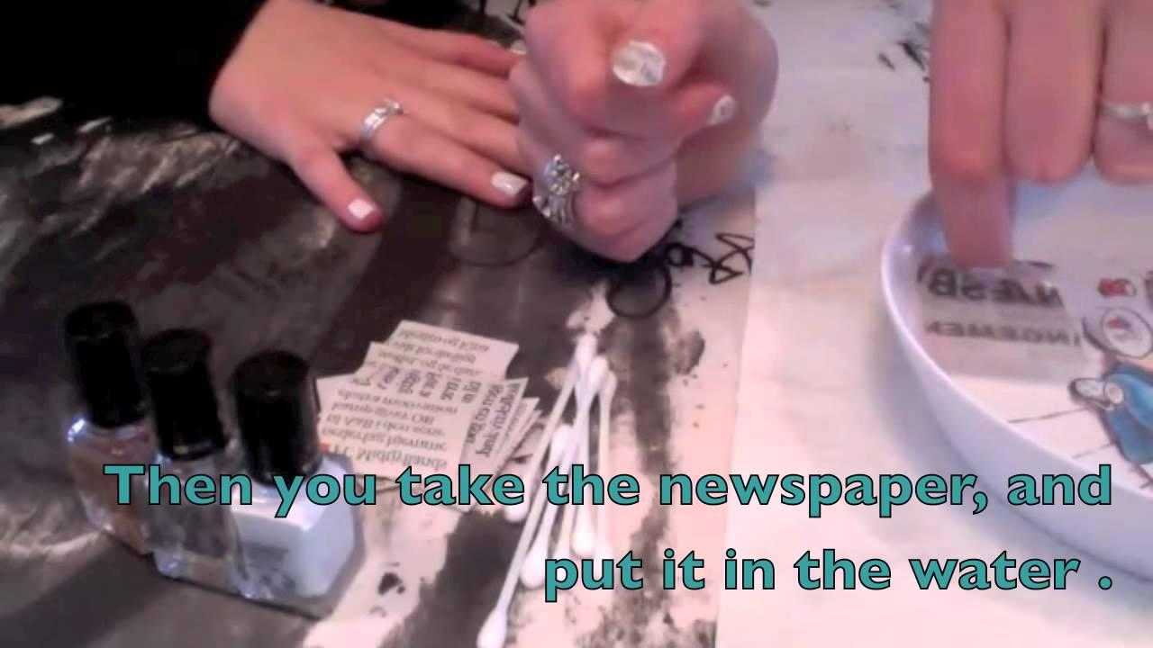Newspaper nails - YouTube