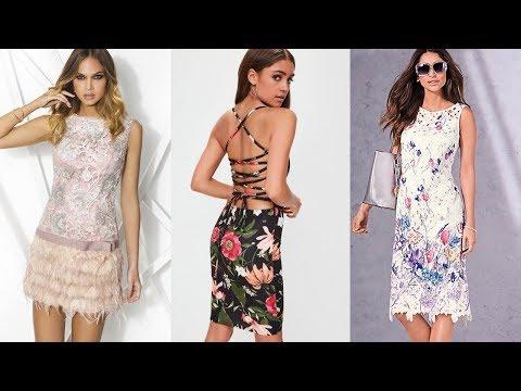 VESTIDOS DE MODA MUJER ELEGANTES Y BONITOS / Vestidos  Modernos Estampados / Fashion Love