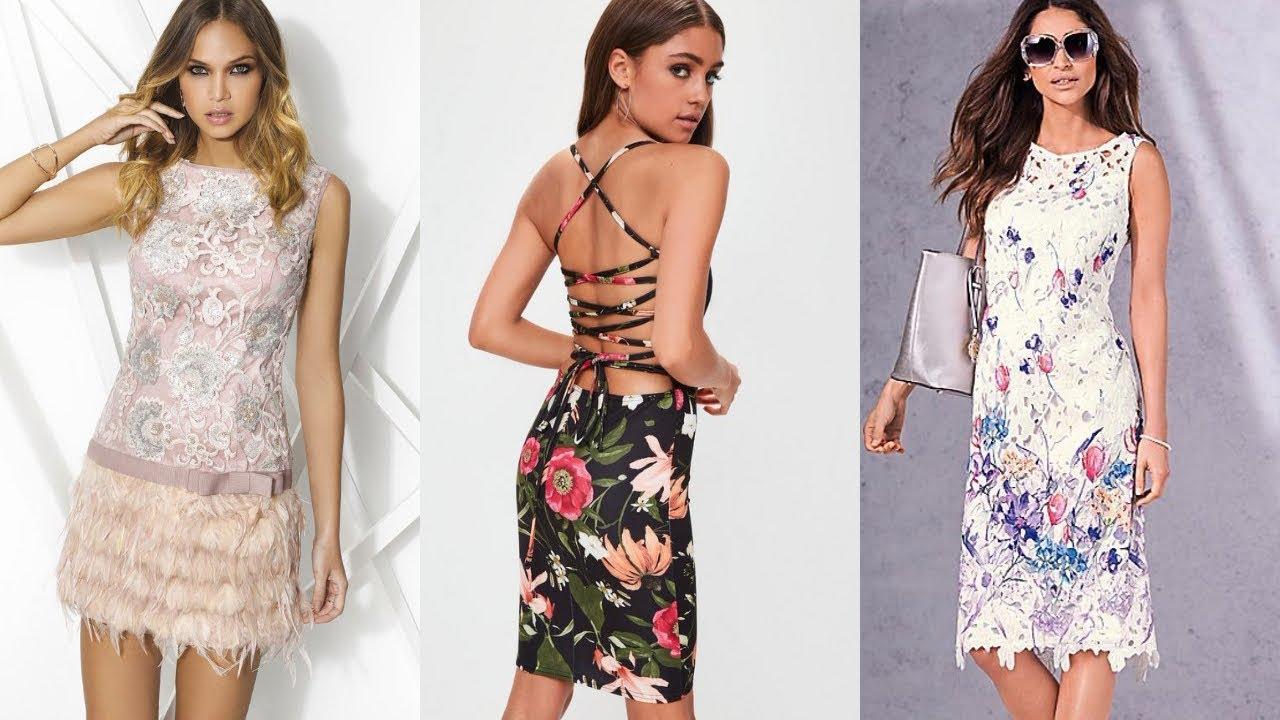Vestidos De Moda Mujer Elegantes Y Bonitos Vestidos Modernos Estampados Fashion Love