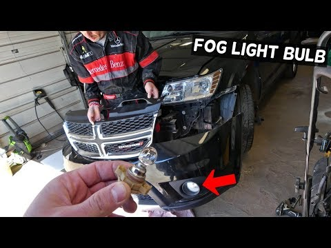 HOW TO REPLACE FOG LIGHT BULB ON DODGE JOURNEY. FIAT FREEMONT