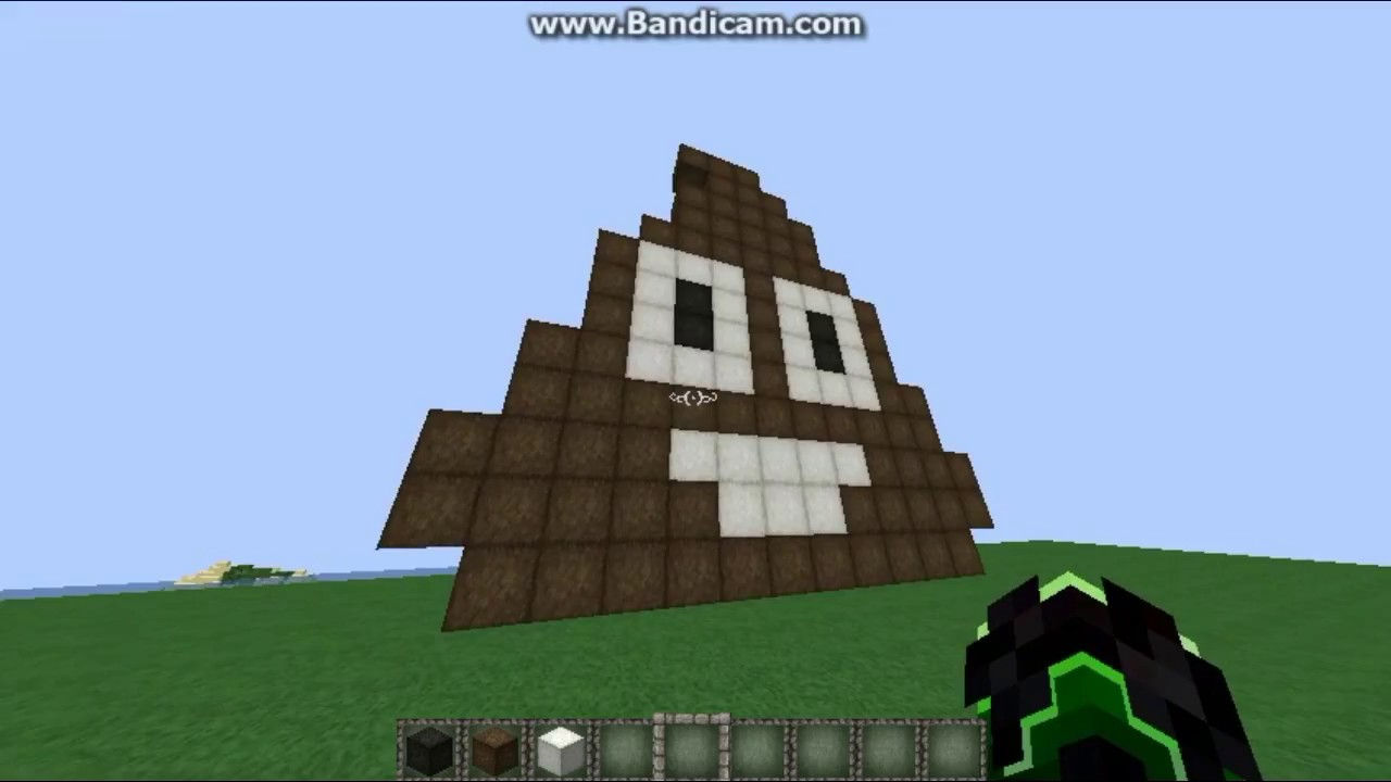 Tuto Minecraft Emoji Caca En Pixel Art Youtube