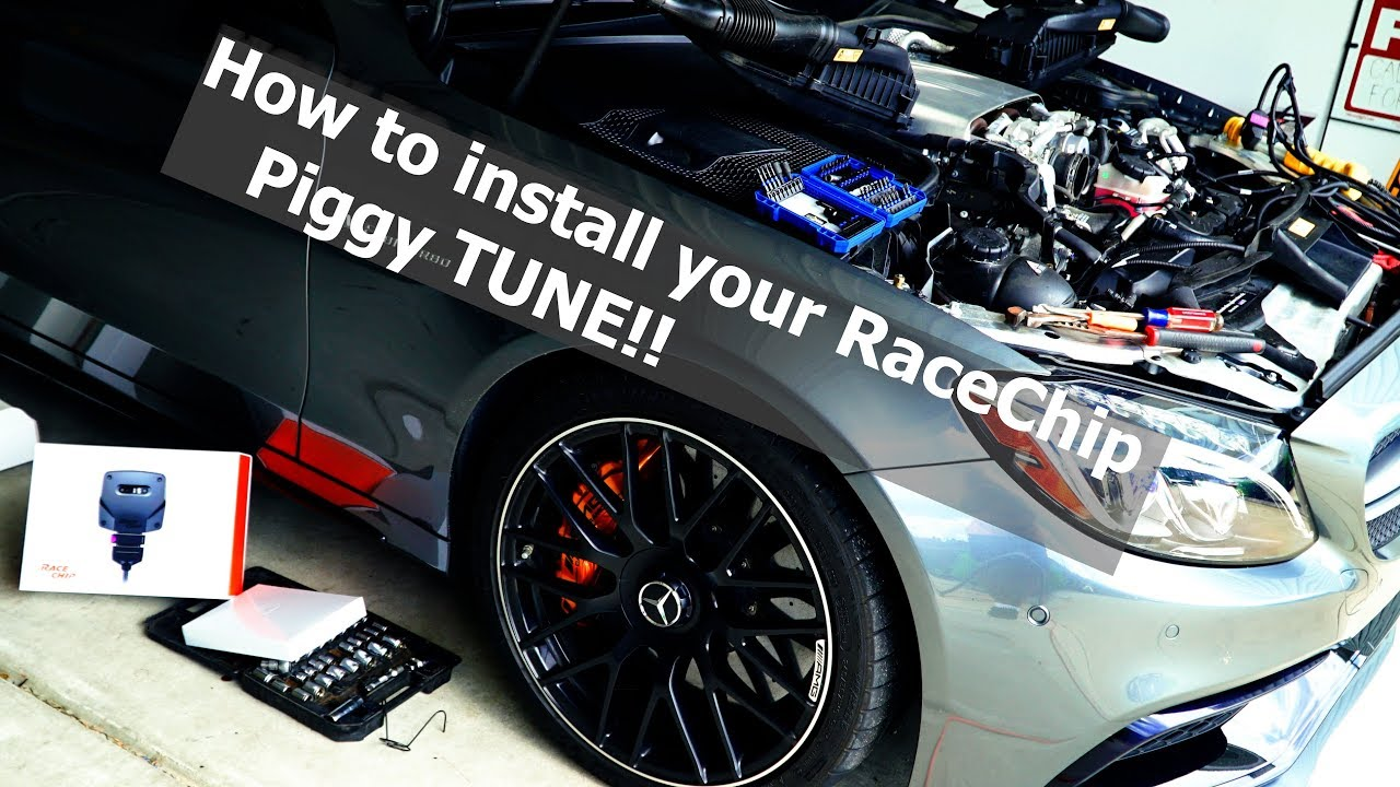 C63s AMG Racechip GTS Black tune Unboxing & install on Most diffulcult  engine