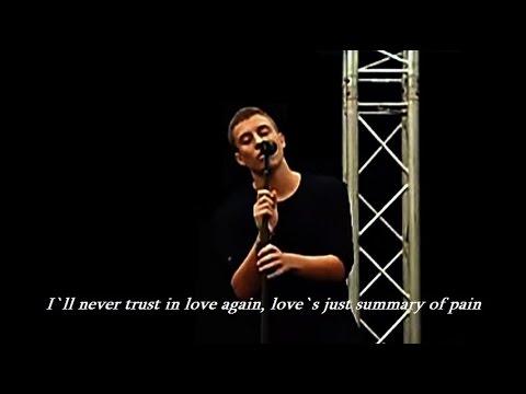 Loic Nottet - Man Down LYRICS (own Song, Live)