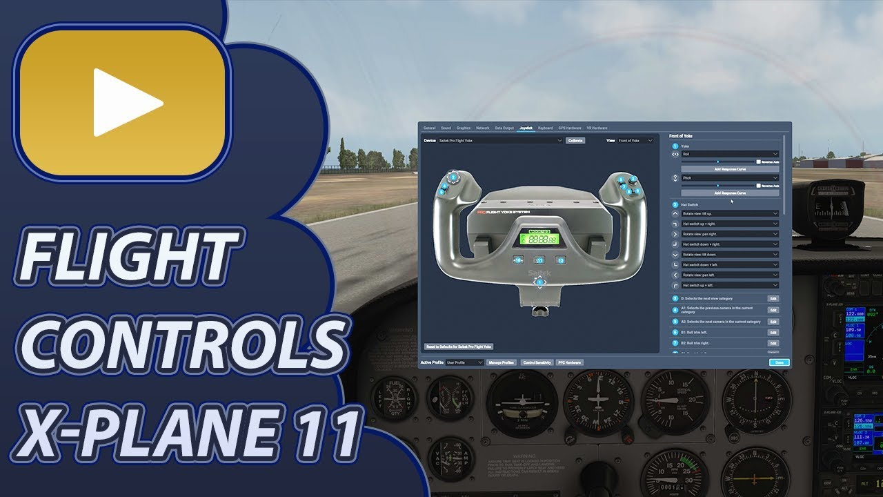 Repeat X-Plane 11 Flight Controls Setup (With Response Curve