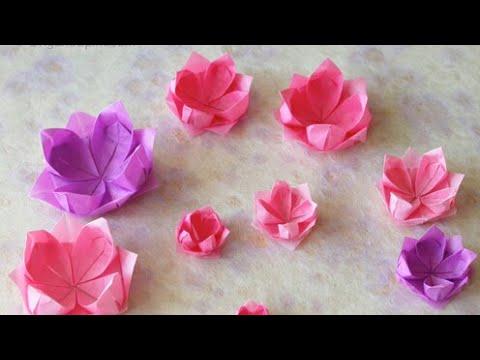 Como Hacer Flor De Loto En Origami Flor De Loto Con Papel Youtube