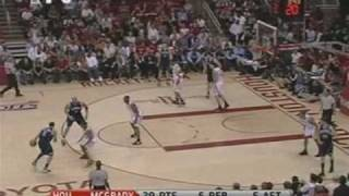 T-Mac, Tracy McGrady Ownage Post Move On Andrei Kirilenko, NBA Playoffs 2008 Rockets Jazz R1 Game 5