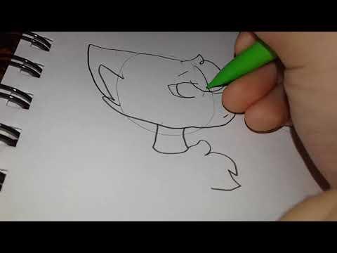 how I draw foxy X mangle
