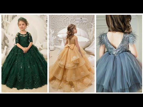 Very Beautyful And Impressive Bell Gown Paty Wear Baby Dresses Latest Designs