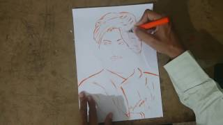 HOW TO DRAW SWAMI VIVEKANANDA