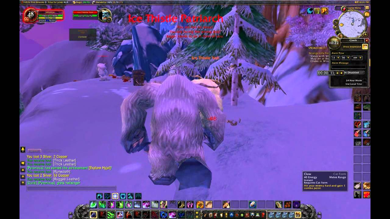 Wowfarming Farming Rugged Leather In Winterspring Wow Play Commentary